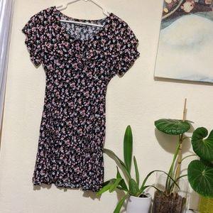 Floral Sailor Collared Dress